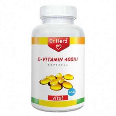 Dr. Herz E-vitamin 400IU 60 db lágyzselatin kapszula