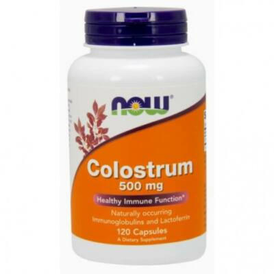 Now Colostrum 500 mg - 120 Veg Capsules