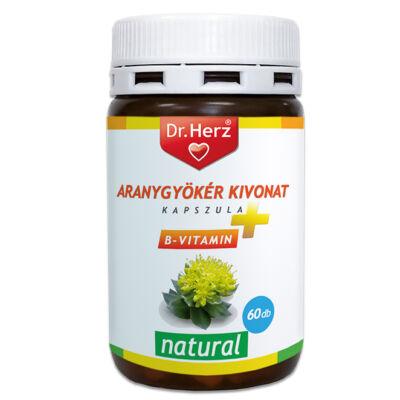 Dr. Herz Aranygyökér + B vitamin kapszula 60 db Rhodiola Rosea