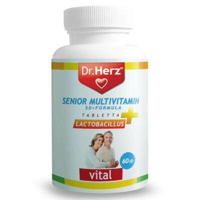 Dr. Herz Senior Multivitamin 50+ Lactobacillus 60db tabletta
