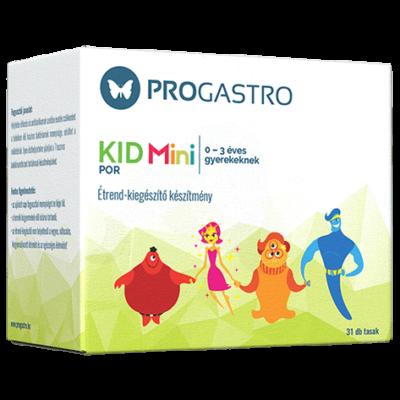 ProGastro KID Mini Élőflórát tartalmazó étrend-kiegészítő készítmény 0-3 éves gyerekeknek (31 db tasak)