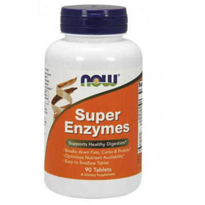 Now Super Enzymes - 90 Tablets