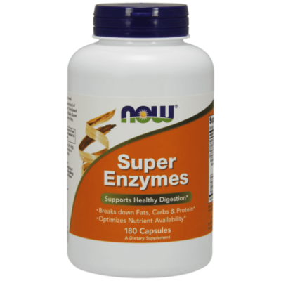 Now Super Enzymes - 180 Capsules