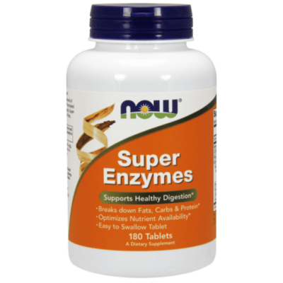 Now Super Enzymes - 180 Tablets
