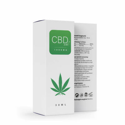 CBD Olaj 1000mg – 30 ml – 0% THC (Norvég)