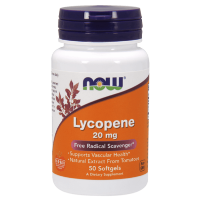 Now Lycopene 20mg 50 Softgels