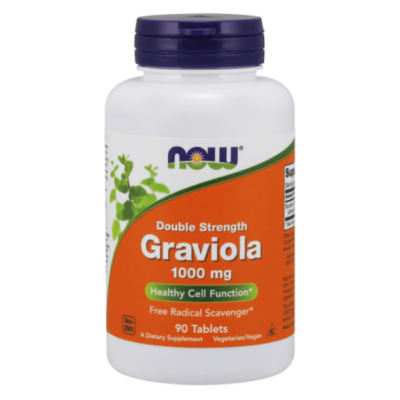 Now Graviola 1000 mg, Double Strength - 90 Tablets
