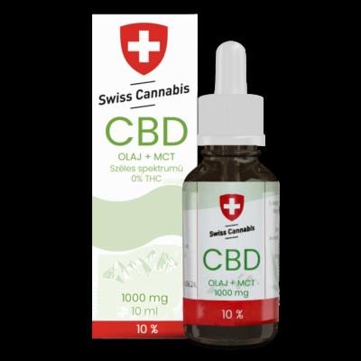 Svájci CBD Swiss Cannabis CBD +MCT olaj 10% - 1000mg/10ml