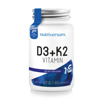 Nutriversum VITA D3+K2 60 kapszula