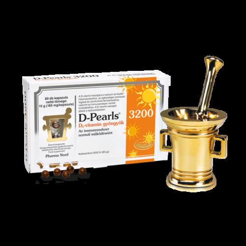 Pharma Nord-D-Pearls D-vitamin gyöngyök 3200
