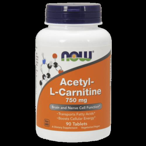 Now Acetyl-L Carnitine 750mg 90 tabl.