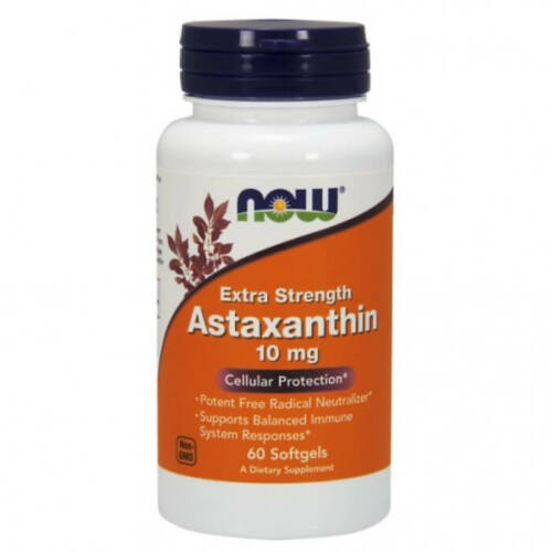 Now Astaxanthin Extra Strength 10 mg - 60 Softgels