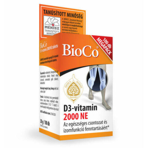BioCo D3-vitamin 2000 NE Megapack 100 db