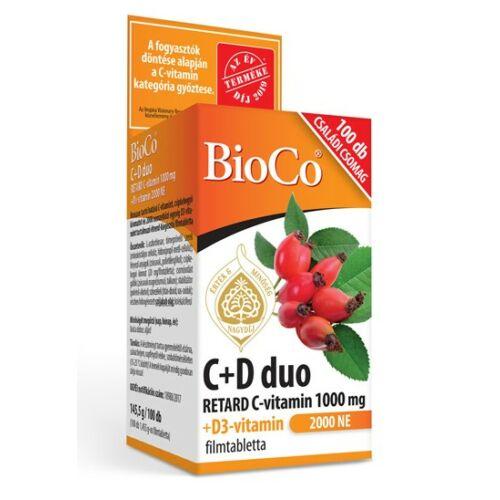 BioCo C+D Duo 2000NE 100 db filmtabletta