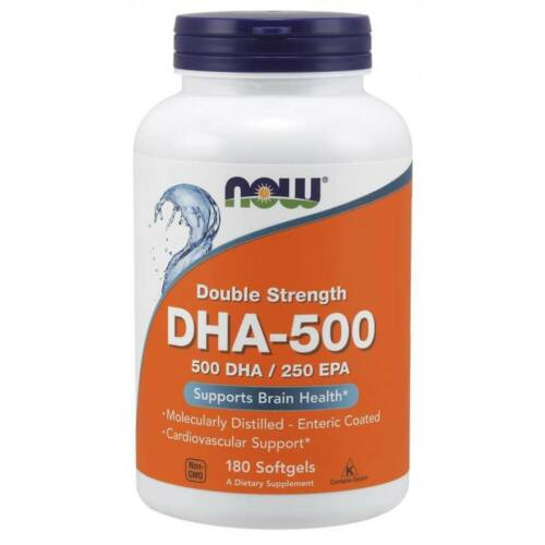 Now DHA-500, Double Strength 180 Softgels
