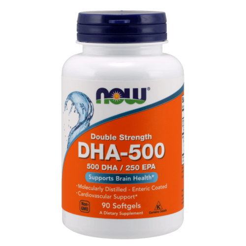 Now DHA-500, Double Strength 90 Softgels