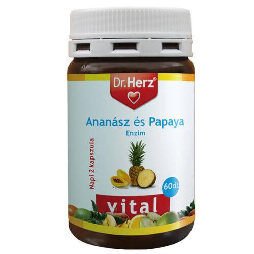 Dr. Herz Ananász Papaya enzim 60 db kapszula
