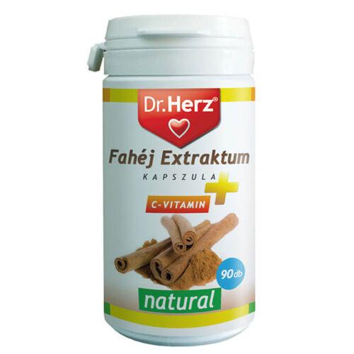 Dr. Herz Fahéj Extraktum + C-vitamin kapszula 90 db