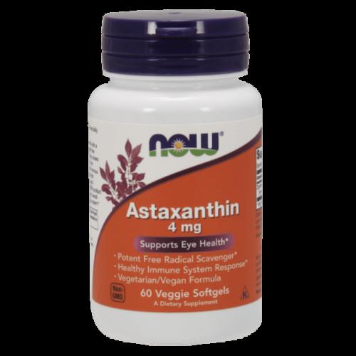 NOW Astaxanthin 4 mg - 60 Veggie Softgels