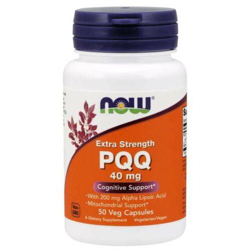 NOW PQQ, Extra Strength 40 mg 50 Veg Capsules