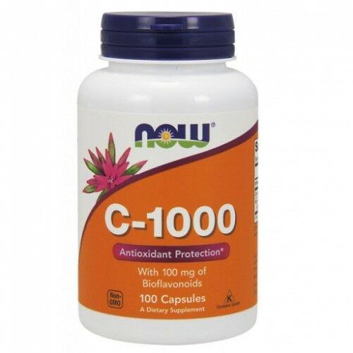 NOW C-vitamin 1000 mg. bioflavonoiddal és rutinnal 100 kapszula