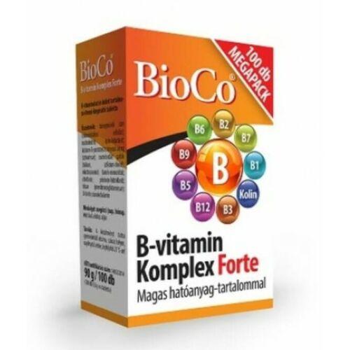BioCo B-vitamin Komplex Forte 100 db tabletta