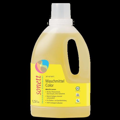 Sonett Folyékony mosószer színes mosáshoz - menta & citrom 1,5 liter