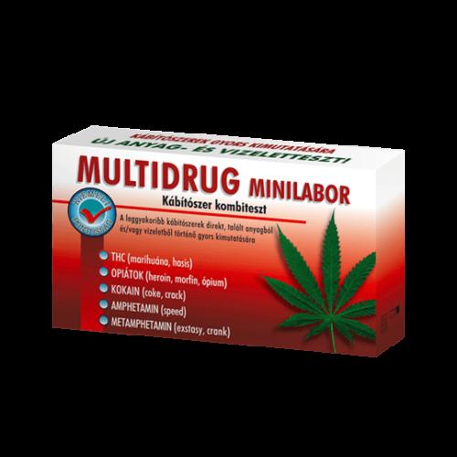 Multidrug minilabor kábítószerfogyasztás kimutatására (drogteszt) 1db