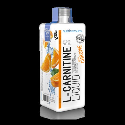 Nutriversum FLOW L-Carnitine 3000 mg narancs 500 ml
