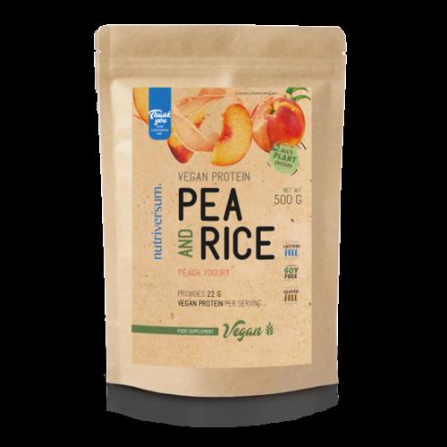 Nutriversum Pea & Rice Vegan Protein - 500g - VEGAN - barack-joghurt
