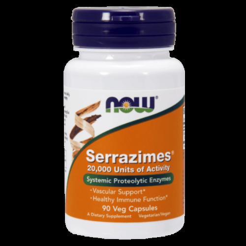 Now Serrazimes® 20,000 Units - 90 Veg Capsules