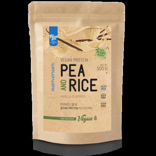 Nutriversum Pea & Rice Vegan Protein - 500g - VEGAN - vanília
